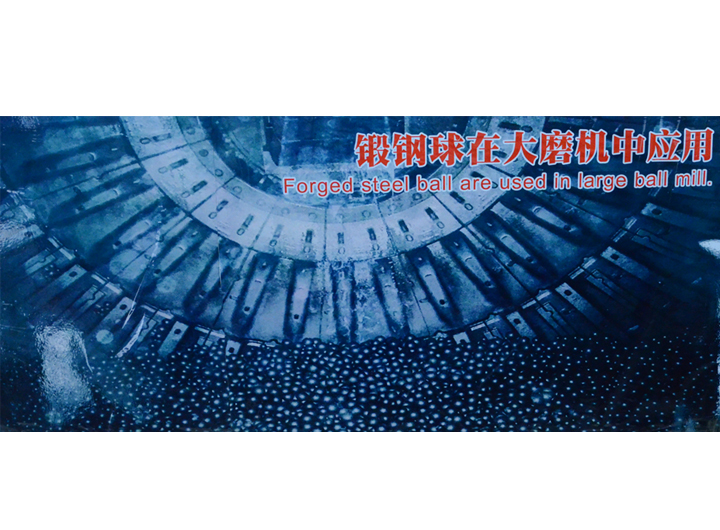 Application in large mill of forged steel ball